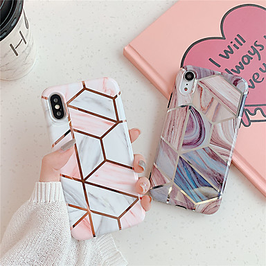 voordelige iPhone-hoesjes-hoesje Voor Apple iPhone 11 / iPhone 11 Pro / iPhone 11 Pro Max Patroon Achterkant Geometrisch patroon / Marmer TPU