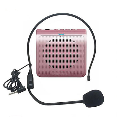 olcso Mikrofonok-hordozható hangszóró mini hangerősítő mikrofon usb tf kártya fm rádióval a tanári útikalauz promóciójához
