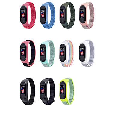رخيصةأون أساور ساعات هواتف Xiaomi-سوار الساعة الذكية ل xiaomi mi 3 4 سوار حزام سهلة لارتداء تفكيك النايلون ل millet mi band 4/3 strap