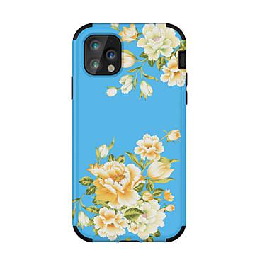 voordelige iPhone-hoesjes-hoesje Voor Apple iPhone 11 / iPhone 11 Pro / iPhone 11 Pro Max Schokbestendig / Ultradun / Patroon Achterkant Tegel / Bloem TPU