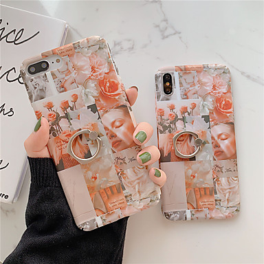 voordelige iPhone 6 Plus hoesjes-hoesje Voor Apple iPhone XS / iPhone XR / iPhone XS Max Ringhouder / Patroon Achterkant Sexy dame / Bloem PC