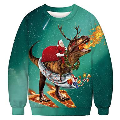 رخيصةأون كنزات هودي رجالي-كنزة رجالي طباعة كاجوال / عيد الميلاد