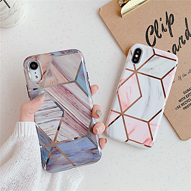 voordelige iPhone 6 Plus hoesjes-hoesje Voor Apple iPhone 11 / iPhone 11 Pro / iPhone 11 Pro Max Patroon Achterkant Geometrisch patroon / Marmer TPU