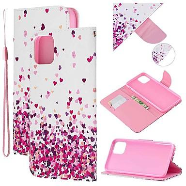 Недорогие Кейсы для iPhone X-Кейс для Назначение Apple iPhone 11 / iPhone 11 Pro / iPhone 11 Pro Max Кошелек / Бумажник для карт / со стендом Чехол С сердцем Кожа PU
