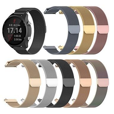 Недорогие Аксессуары для смарт-часов-ремешок для часов для часов Huawei GT2 46 мм / часы Huawei GT2 42 мм Huawei Милан петля ремешок из нержавеющей стали ремешок