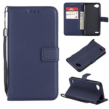 Недорогие Чехлы и кейсы для LG-Кейс для Назначение LG LG X Power / LG V30 / LG V20 Кошелек / Бумажник для карт / Флип Чехол Однотонный Кожа PU / ТПУ