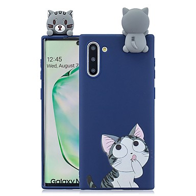 voordelige Galaxy Note-serie hoesjes / covers-hoesje Voor Samsung Galaxy Note 9 / Note 8 / Galaxy Note 10 Patroon Achterkant 3D Cartoon TPU