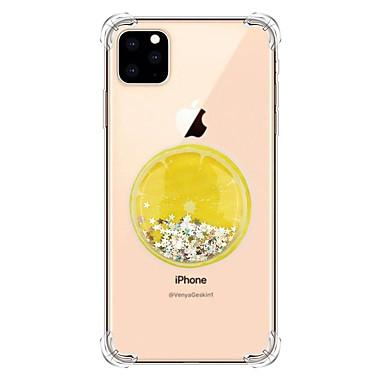 Недорогие Кейсы для iPhone-Кейс для Назначение Apple iPhone 11 / iPhone 11 Pro / iPhone 11 Pro Max Движущаяся жидкость / Прозрачный / С узором Кейс на заднюю панель Сияние и блеск ТПУ