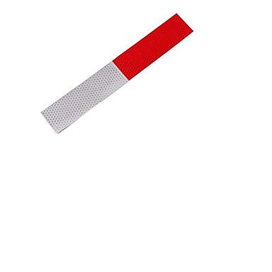 voordelige Automotive buitentoebehoren-auto waarschuwing reflecterende strip rode en witte reflecterende stickers auto vrachtwagen nachtclub rijveiligheid bescherming stickers single