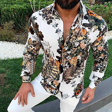 رخيصةأون جواكيت رجالي-رجالي أساسي قميص, ورد