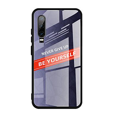 Недорогие Чехлы и кейсы для Galaxy S-Кейс для Назначение Huawei S9 / S9 Plus / S8 Plus Зеркальная поверхность Кейс на заднюю панель Плитка Закаленное стекло