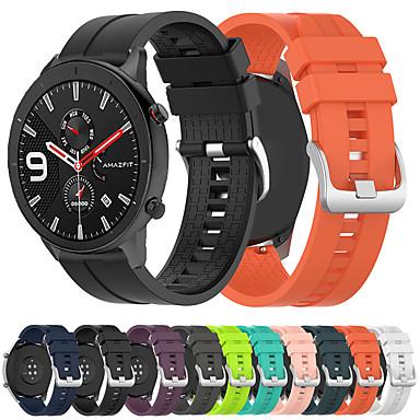 voordelige Horlogebandjes voor Xiaomi-sport siliconen horlogeband polsband voor xiaomi huami amazfit gtr 47 mm / amazfit stratos 2 / 2s / amazfit tempo slimme horloge armband polsband vervangbare accessoires