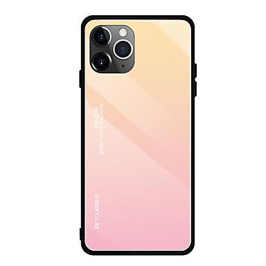 Недорогие Кейсы для iPhone-Кейс для Назначение Apple iPhone 11 / iPhone 11 Pro / iPhone 11 Pro Max Ультратонкий Кейс на заднюю панель Градиент цвета ТПУ