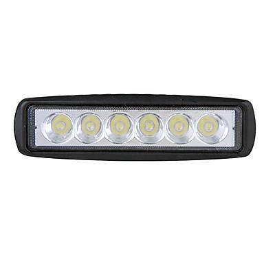 Недорогие Автомобильные фары-18 Вт светодиодные работы грузовик противотуманные фары внедорожник средний чистый предупредительный световой сигнал мотоцикла флеш свет 6 дюймов полосы света