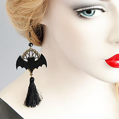 رخيصةأون أقراط-نسائي أقراط قطرة حلقات مكشكش خفاش عتيق كرتون شائع موضة الأقراط مجوهرات أسود من أجل الهالووين نادي 1 زوج