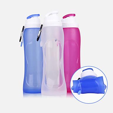 olcso Kemping felszerelések-csésze 500 ml Silica Gel Hordozható Összecsukható mert Kemping Kempingezés / Túrázás / Barlangászat Cross-Country Ibolya Átlátszó Tengerészkék