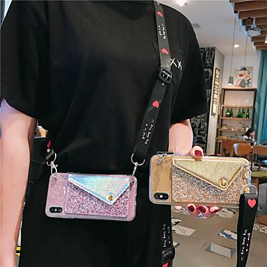 Недорогие Чехлы и кейсы для Galaxy Note-чехол для samsung galaxy note10 / note10 plus с блестящим патчем note9 / note8 кошелек для монет с ремешком note3 / note4 / note5 диагональ антипропадание чехол для мобильного телефона