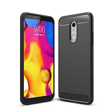 رخيصةأون LG أغطية / كفرات-حالة ل lg v40 / lg stylo 5 / lg g7 للصدمات / رقيقة جدا الغطاء الخلفي الصلبة حالة ألياف الكربون الملونة