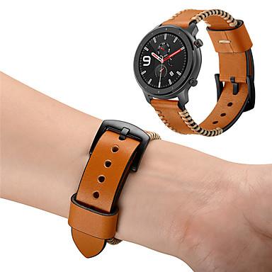 Недорогие Ремешки для часов Huawei-ремешок из натуральной кожи ремешок на запястье для xiaomi huami amazfit gtr 47mm / huawei honor магический браслет сменный браслет