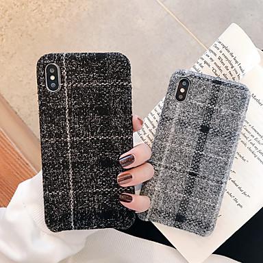 Недорогие Кейсы для iPhone 7-Кейс для Назначение Apple iPhone 11 / iPhone 11 Pro / iPhone 11 Pro Max Ультратонкий Кейс на заднюю панель Плитка / Полосы / волосы / Плюш ТПУ / Хлопковая ткань