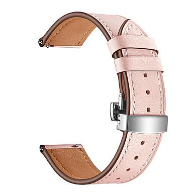 Недорогие Часы для Samsung-ремешок для часов для samsung galaxy active silver пряжки бабочки 20 мм ремешок из натуральной кожи