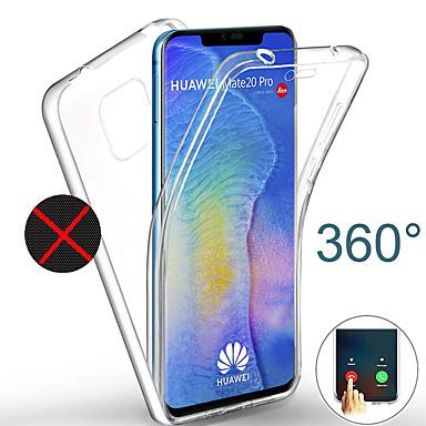 رخيصةأون Huawei أغطية / كفرات-360 درجة كامل الجسم القضية لهواوي زميله 20 الموالية زميله 20 لايت p30 الموالية p30 لايت p20 الموالية p20 لايت حالة شفافة pc سيليكون رقيقة هلام tpu غطاء لينة ل p الذكية زائد 2019 شرف 10 لايت y5 y6 y9