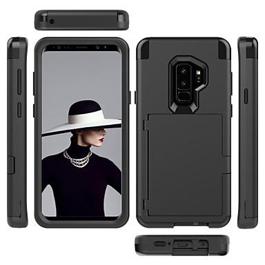 voordelige Galaxy S-serie hoesjes / covers-hoesje Voor Samsung Galaxy S9 / S9 Plus / S8 Plus Kaarthouder / Schokbestendig / Spiegel Volledig hoesje Effen PC