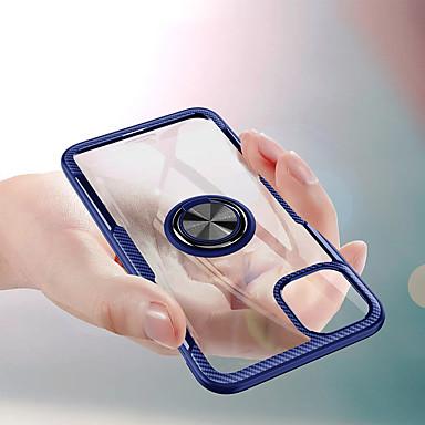 voordelige iPhone X hoesjes-transparant hard pc-telefoonhoesje voor voor iPhone 11 pro / iphone 11 / iphone 11 pro max auto magnetische hoesjes voor iphone xs max xr xs x 8 plus 8 7 plus 7 6 plus 6 vingerringhouder hoes