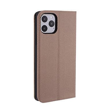 voordelige iPhone-hoesjes-hoesje Voor Apple iPhone 11 / iPhone 11 Pro / iPhone 11 Pro Max Ultradun / Magnetisch Volledig hoesje Tegel PU-nahka