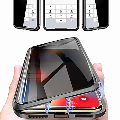 voordelige iPhone-hoesjes-hoesje voor Apple iPhone 11 pro 11 pro max 11 schokbestendig flip magnetisch full body hoesje effen gekleurd gehard glas x / xs xr xs max 7 plus / 8 plus 8/7