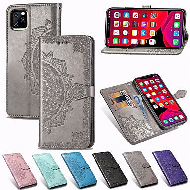 Недорогие Кейсы для iPhone 7-Мандала с тиснением кожаный бумажник флип телефон чехол для iphone 11 pro max xr xs max x 8 плюс 8 7 плюс 7 6 плюс 6 держатель подставка для карты крышка корпуса