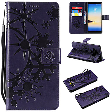 Недорогие Чехлы и кейсы для Galaxy Note 3-Кейс для Назначение SSamsung Galaxy Note 8 / Note 3 / Galaxy Note 4 Кошелек / Бумажник для карт / Флип Чехол Пейзаж Кожа PU / ТПУ