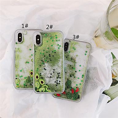 voordelige iPhone-hoesjes-hoesje Voor Apple iPhone XS / iPhone XR / iPhone XS Max Stromende vloeistof / Patroon / Glitterglans Achterkant Voedsel TPU