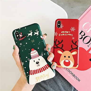voordelige iPhone 7 hoesjes-hoesje Voor Apple iPhone 11 / iPhone 11 Pro / iPhone 11 Pro Max Patroon Achterkant Cartoon / Kerstmis TPU