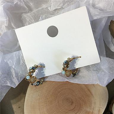 رخيصةأون أقراط-نسائي حلقات فينتاج قشرة لؤلؤ تقليدي تقليد الماس S925 فضة الأقراط مجوهرات أبيض / أزرق من أجل هدية مناسب للبس اليومي مهرجان 1 زوج