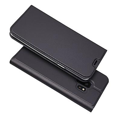 voordelige Galaxy A7 hoesjes / covers-hoesje Voor Samsung Galaxy S9 / S9 Plus / S8 Plus Kaarthouder / Magnetisch / Auto Slapen / Ontwaken Volledig hoesje Effen PU-nahka / TPU