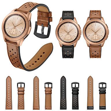 voordelige Horlogebandjes voor Samsung-lederen horlogeband polsband voor Samsung Galaxy Watch 42 mm / versnelling s2 classic / versnelling sportarmband vervangbare polsband