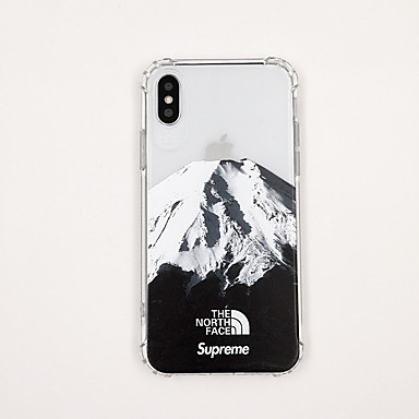voordelige iPhone-hoesjes-hoesje Voor Apple iPhone XS / iPhone XR / iPhone XS Max Ultradun / Transparant / Patroon Achterkant Transparant / Landschap / Cartoon TPU
