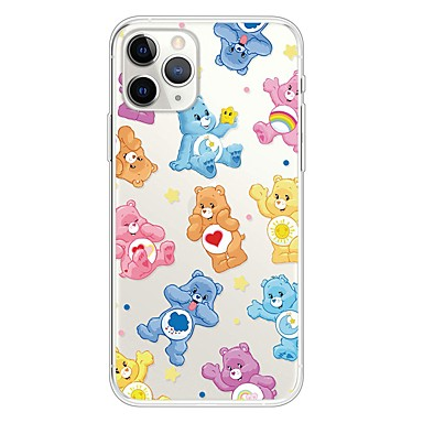 voordelige iPhone-hoesjes-hoesje Voor Apple iPhone 11 / iPhone 11 Pro / iPhone 11 Pro Max Ultradun / Transparant / Patroon Achterkant dier / Cartoon TPU