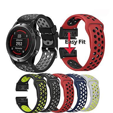 Недорогие Часы и ремешки Garmin-ремешок для часов ремешок для garmin fenix 5 / подхода s60 / предшественник 935/945 / quatix 5 / quatix 5 сапфир / fenix 6 / fenix 5 plus быстрозажимный силиконовый браслет-браслет easyfit