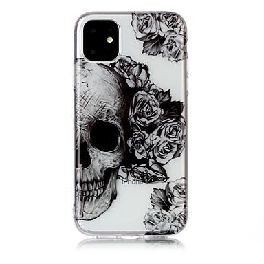 رخيصةأون أغطية أيفون-غطاء من أجل Apple اي فون 11 / iPhone 11 Pro / iPhone 11 Pro Max نحيف جداً / شفاف / نموذج غطاء خلفي جماجم TPU