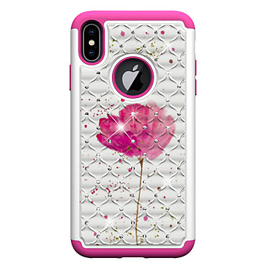 Недорогие Кейсы для iPhone-Кейс для Назначение Apple iPhone XS / iPhone XR / iPhone XS Max С узором Кейс на заднюю панель Бабочка / Животное / Цветы Акрил