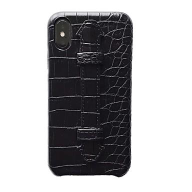 Недорогие Кейсы для iPhone 6-Кейс для Назначение Apple iPhone XS / iPhone XR / iPhone XS Max Ультратонкий / С узором Кейс на заднюю панель Однотонный Настоящая кожа