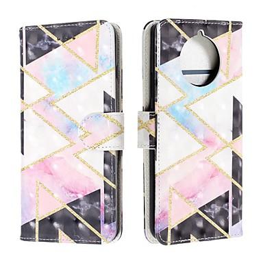 Недорогие Чехлы и кейсы для Nokia-чехол для nokia 9 pureview / nokia 7.1 / кошелек nokia 4.2 / кейс / флип чехлы для тела с геометрическим рисунком искусственная кожа для nokia 1 plus / nokia x71