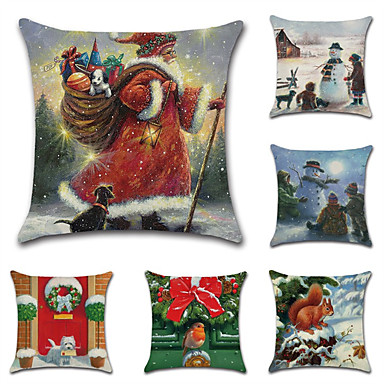 رخيصةأون وسائد-عيد الميلاد سلسلة موضوع غطاء وسادة غطاء وسادة سانتا كلوز ثلج