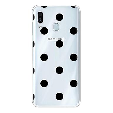 Недорогие Чехлы и кейсы для Galaxy А-Кейс для Назначение SSamsung Galaxy A6 (2018) / Galaxy A7(2018) / Galaxy A10 (2019) Ультратонкий / Прозрачный / С узором Кейс на заднюю панель Геометрический рисунок ТПУ