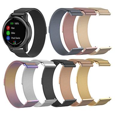 voordelige Smartwatch-accessoires-milanese lusriem voor garmin vivoactive 4 / fenix chronos roestvrij stalen armband
