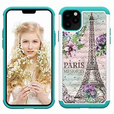 voordelige iPhone-hoesjes-hoesje Voor Apple iPhone 11 / iPhone 11 Pro / iPhone 11 Pro Max Schokbestendig / Strass / Patroon Achterkant Eiffeltoren TPU / Muovi
