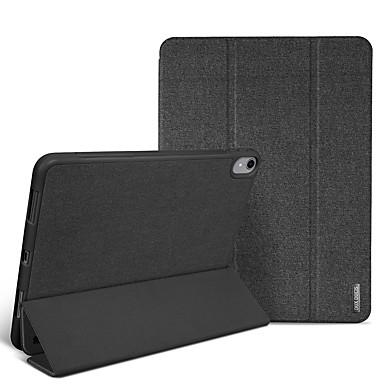 رخيصةأون أغطية أيباد-غطاء من أجل Apple iPad Pro 12.9 '' (2018) ضد الصدمات / مع حامل / النوم / الإيقاظ التلقائي غطاء كامل للجسم لون سادة جلد PU / TPU