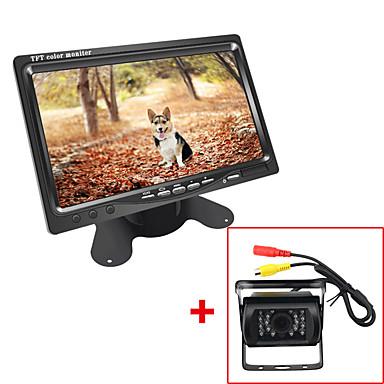 Недорогие Приборы для проекции на лобовое стекло-Автобус с грузовиком постоянного тока 7 ЖК-монитор с парковкой заднего вида Видеокамера HD камера